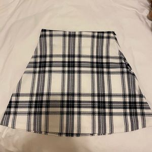 DesignLab Lord & Taylor Plaid Mini Skirt